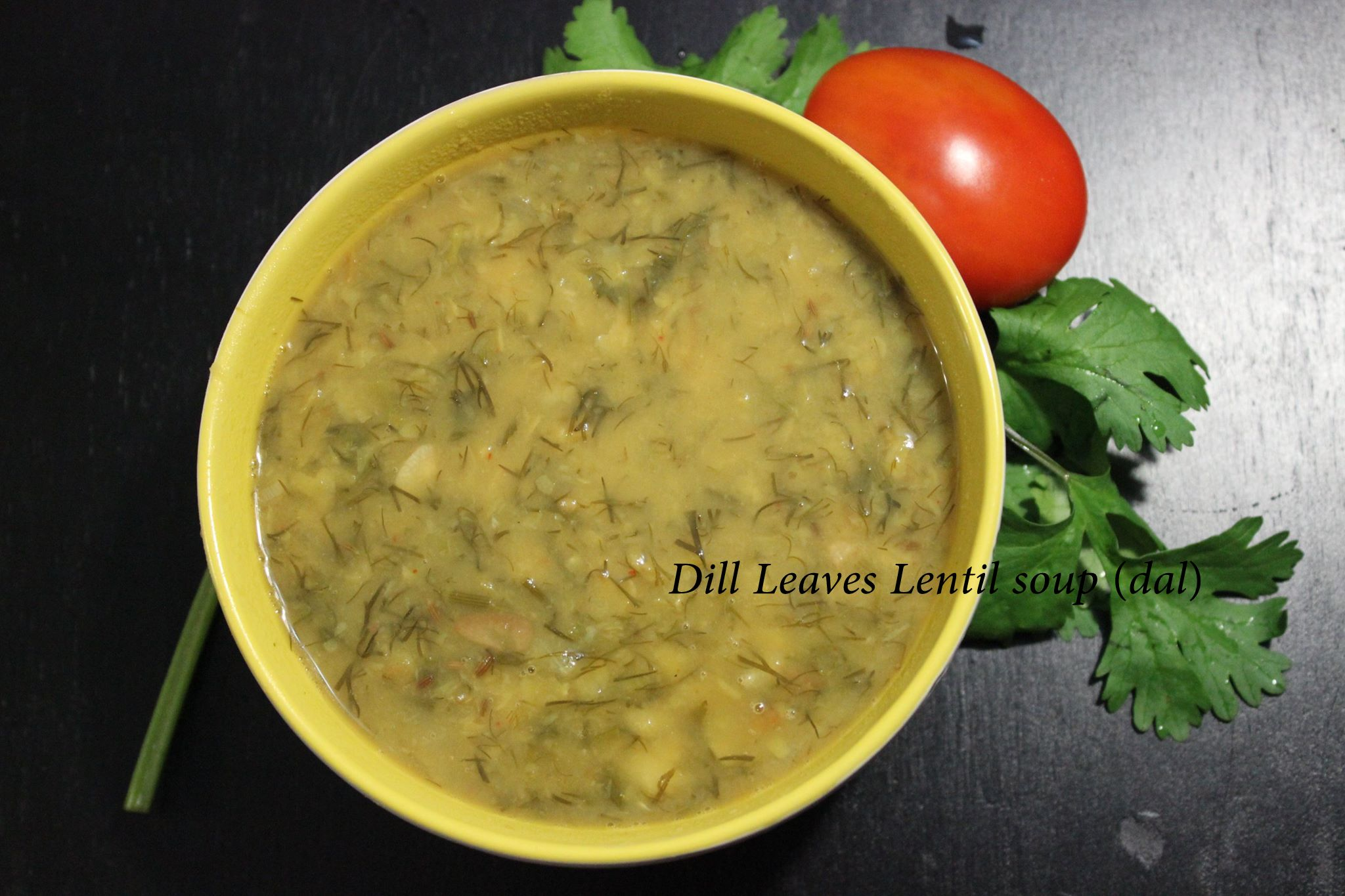 Dill Leaves Lentil soup (dal)