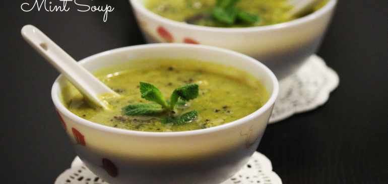 Pea Broccoli and Mint Soup