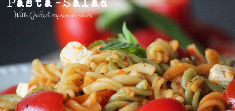 Tri Colour Pasta Salad