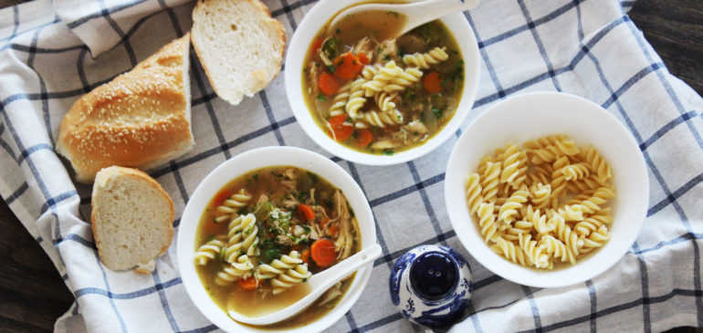 Hearty Chicken Pasta Soup